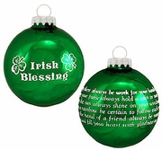 Irish Blessings Holiday Ornament