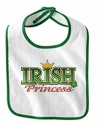 Irish Princess Baby Bib