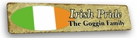 Irish Vintage Metal Sign