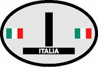 Italy Oval Decal