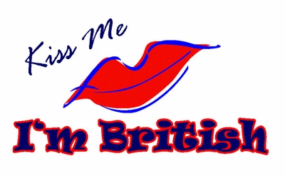 Kiss Me I'm British shirts