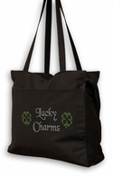Lucky Charms Rhinestone Irish Tote Bag