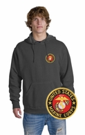 Marines Patch Crest Hooded Sweatshirt