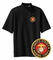 Marines Short Sleeve Mock Turtleneck