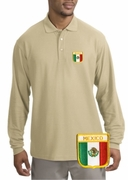 Mexico Patch Long Sleeve Polo