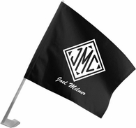 Monogrammed Gifts Car Flag