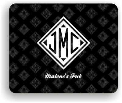 Monogrammed Gifts Hard Mousepad