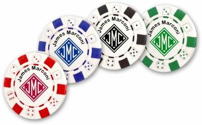 Monogrammed Gifts Poker Chips