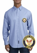 Navy Long Sleeve Oxford