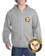 Navy Patch Full Zippered Hoody
