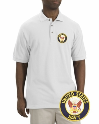Navy Patch Polo