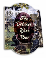 Personalized Traditional Wine Sign