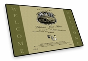 Personalized Wine Label Welcome Mat
