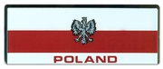 Poland Flag Bar Sticker