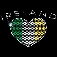 Rhinestone Ireland with Heart Flag Shirts