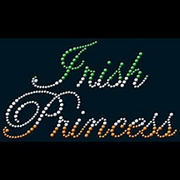 Rhinestone Irish Princess in Script Shirts