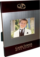 ring bearer Brush Silver Frame