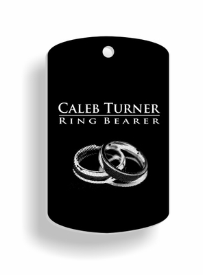 ring bearer Dog Tags