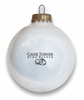 ring bearer Holiday Ball Ornament
