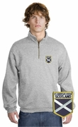 Scotland Patch 1/4 Zip Pullover