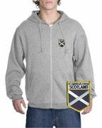Scotland Patch Full Zippered Hoody