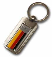 Silver Inlay Germany Key Chain