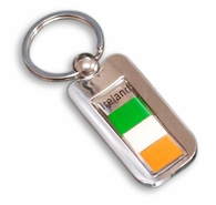 Silver Inlay Ireland Key Chain