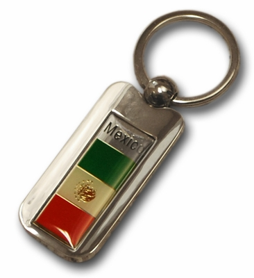 Silver Inlay Mexico Key Chain