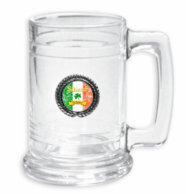 "Slainte Irish ""To Health""  Glass Stein"