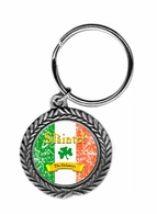 "Slainte Irish ""To Health""  Pewter Key Ring"