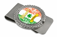 "Slainte Irish ""To Health""  Pewter Money Clip"