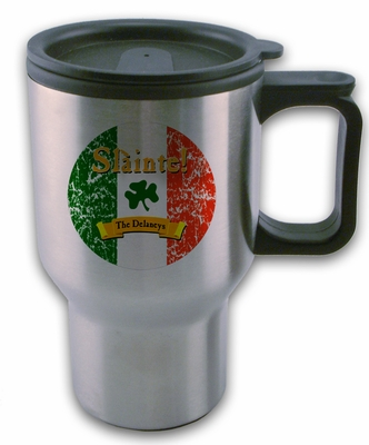 "Slainte Irish ""To Health"" Travel Mug"