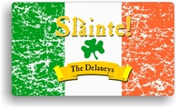 "Slainte Irish ""To Health"" Vintage Metal Sign"