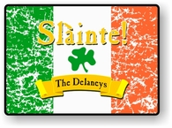 "Slainte Irish ""To Health"" Welcome Mat"