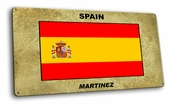Spain Vintage Metal Short Sign