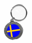 Sweden Pewter Key Chain