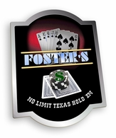 Texas Hold 'Em Pub Sign