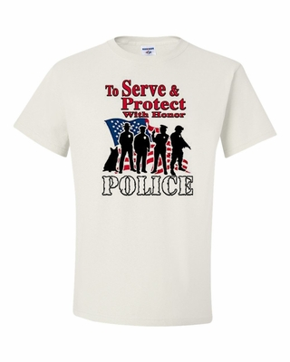 To Serve & Protect with Honor-Police Shirts