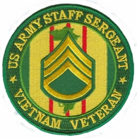 US Army Staff Sergeant Vietnam Veteran Patch