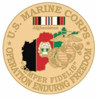 US Marine Corps Operation Enduring Freedom Pin