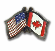 USA & Canadian Flags Pin
