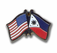 USA & Filipino Flags Pin