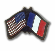 USA & France Flags Pin