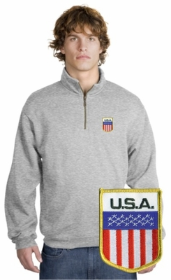 USA Patch 1/4 Zip Pullover