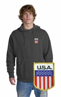USA Patch Crest Hooded Sweatshirt