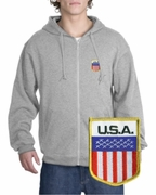 USA Patch Full Zippered Hoody