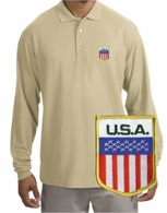 USA Patch Long Sleeve Polo
