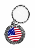 USA Pewter Key Chain