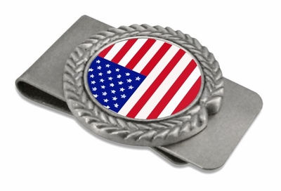 USA Pewter Money Clip