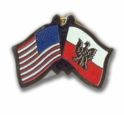 USA & Poland Flags Pin